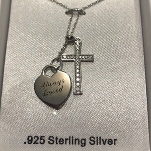 Always Loved Sterling Silver across Necklace